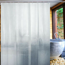 Bathroom Bath Shower Curtain Clear 3D Water Cube Thickened Panel Waterproof AU