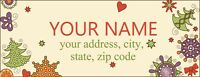 30 Personalized Return Address Labels Laser Printed Christmas New Year Stickers