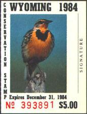 WY1 1984 Wyoming State Stamp MNH