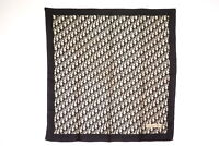 Christian Dior 77cm Large format Scarf 100% silk Trotter pattern Navy 4224k