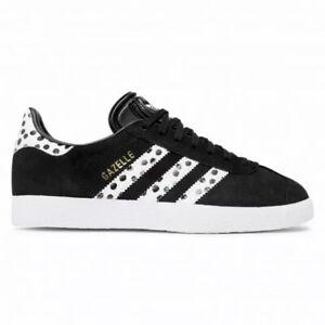 Adidas Gazelle Women's Tennis Shoe Athletic Suede Sneaker Black Casual Trainers