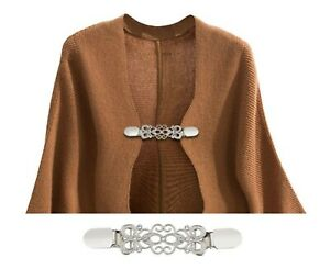 Dress Blouse Shawl Clips Brooch Cardigan Collar Safety Clip Clasps Jewelry Pin
