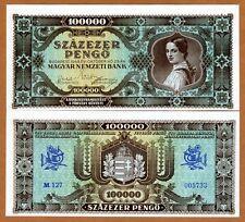 Hungary, 100,000 pengo, 1945, P-120, aUNC