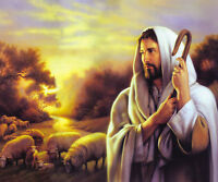 Home Decor Modern Print Art wall oil painting on canvas Jesus Shepherd Figures