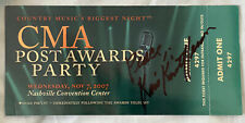 Kris Kristofferson Signed 2007 CMA Awards Post Awards Party Ticket