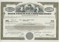 Mack Financial Corporation Bond Stock Certificate Truck Ohio