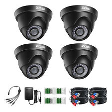 ZOSI 4PK 1080p TVI Security Cameras Outdoor Indoor CCTV Dome 80ft Night Vision