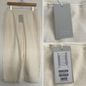 BNWT - COS Cream Textured Loungewear Trousers - Sz Small - RRP £39.00