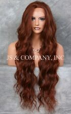 Super Long Soft RED AUBURN HEAT SAFE Lace Front Wig Delicate wavy WEAJ 33-130
