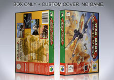 STAR WARS ROGUE SQUADRON. ENGLISH. Box/Case. Nintendo 64. BOX + COVER. (NO GAME)