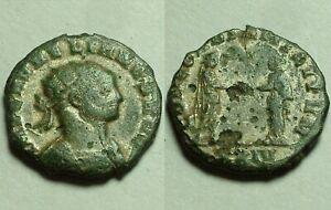 Rare genuine Ancient Roman coin Aurelian Concordia 274A antoninianus silvering