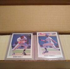 1990 Leaf Baseball Complete Set Mint Frank Thomas & Sammy Sosa RC's + Yaz Puzzle