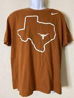 Nike Men Size L Orange UT Texas Longhorns T Shirt Bevo