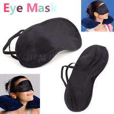Eye Mask Sleep Shade Cover Soft Blindfold Rest Relax Travel Sleeping Aid Patch