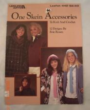 One Skein Accessories to Knit & Crochet - Leisure Arts 442 - 12 Patterns