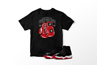 Fight For Love Graphic T-Shirt to Match Air Jordan 11 Bred Retro All Sizes