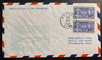1939 Botwood Newfoundland To Shediac Canada  First Flight Cover FFC airmail