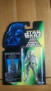Star wars the power of the force tri logo luke skywalker in hoth gear figure