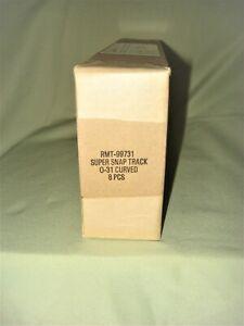 8 PCS 'O' K-Line Aristo-Craft RMT-99731 031 Super-Snap Curved Track    *NIB*