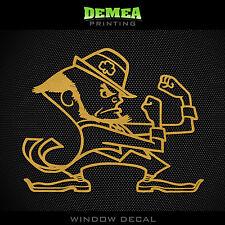 "Notre Dame - Fighting Irish - Mascot - NCAA - Gold Vinyl Sticker Decal 5"""