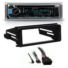 New Harley Touring Marine Kenwood KMR-D368BT Bluetooth Radio Stereo Adapter Kit