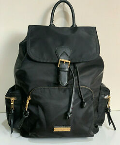 NEW! ADRIENNE VITTADINI STUDIO BLACK LARGE TRAVEL BACKPACK BAG PURSE $190 SALE