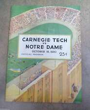NOTRE DAME  CARNEGIE TECH -  COLLEGE FOOTBALL PROGRAM - 1930