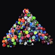 Fashion 100Pcs Ball Belly Button Jewelry Ring Navel Rings Bar Body Piercing Gift