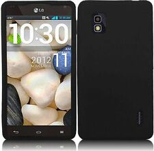 AT&T LG Optimus G E970 Rubber SILICONE Soft Gel Skin Case Phone Cover Black