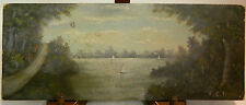 Vintage Original Landscape Oil Painting on Board Signed C.E.B. Very Good Cond