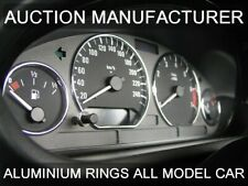 BMW 3er E36 90-00 Polished or Brushed Aluminium Trim Rings Instrument Cluster x4