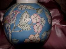 HD32  ASIAN INSPIRED VASE - SOFT PASTEL COLORS
