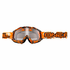Oneal B-Flex Hendrix Clear Black Orange MX Goggles Quad UV Protection Enduro