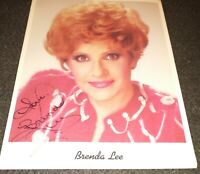 Brenda Lee autographed  8 x 10 color publicity photo hand signed autograph