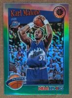 Karl Malone CRISP TRUE GREEN PRIZM SP 🔥💎 2019-20 NBA Hoops Premium Stock MINT