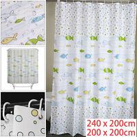 Modern Quality Polyester Shower Curtain Fish Bathroom 200 x 200cm/240 X 200cm