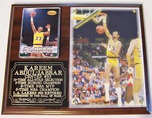 Kareem Abdul Jabbar #33 MVP Los Angeles Lakers 6-Time NBA Champion Photo Plaque