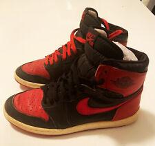 designer fashion 4f0d1 bf1ad Vintage 1985 Nike Air Jordan 1 BRED Banned Original OG Authentic