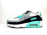 Nike Air Max 90 Leather GS Trainers Grey Teal UK 6 EUR 39 US 6.5Y CD6864 102