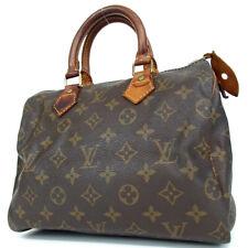 Authentic LOUIS VUITTON M41528 Monogram Speedy 25 VI0972 Handbag PVC/leather...