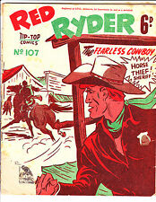 "Red Ryder No 107 1950's -Australian-""Horse Thief Sheriff Cover ! """