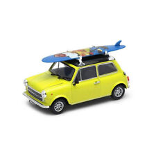 WELLY 22496 Mini Cooper 1300 Avec Planche de Surf Jaune Maßstab 1:24 Neuf !°