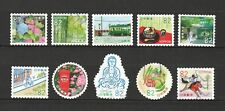 JAPAN 2017 MY TRAVEL JOURNEY 2ND SERIES 82 YEN COMP. SET OF 10 STAMPS FINE USED