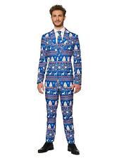 Suitmeister Mens Christmas Blue Nordic Suit