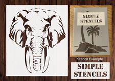 Elephant Stencil, Animal Stencil, Card making, Airbrush, Craft Stencil