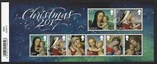 GREAT BRITAIN 2017 CHRISTMAS MINIATURE SHEET WITH  BARCODE FINE USED