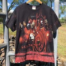 VTG Y2K Hanes Slipknot All over Print Metal Band Music Tour T Shirt M
