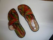 Multi Color West Indian Leather size 10 slippers