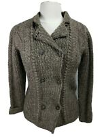 WEISS Cardigan Sweater Sz S Small Jacob Brown Pure New Wool Wales Jumper