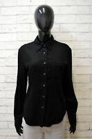 Camicia Donna Armani Jeans Taglia L Manica Lunga Cotone Shirt Woman Hemd Nero
